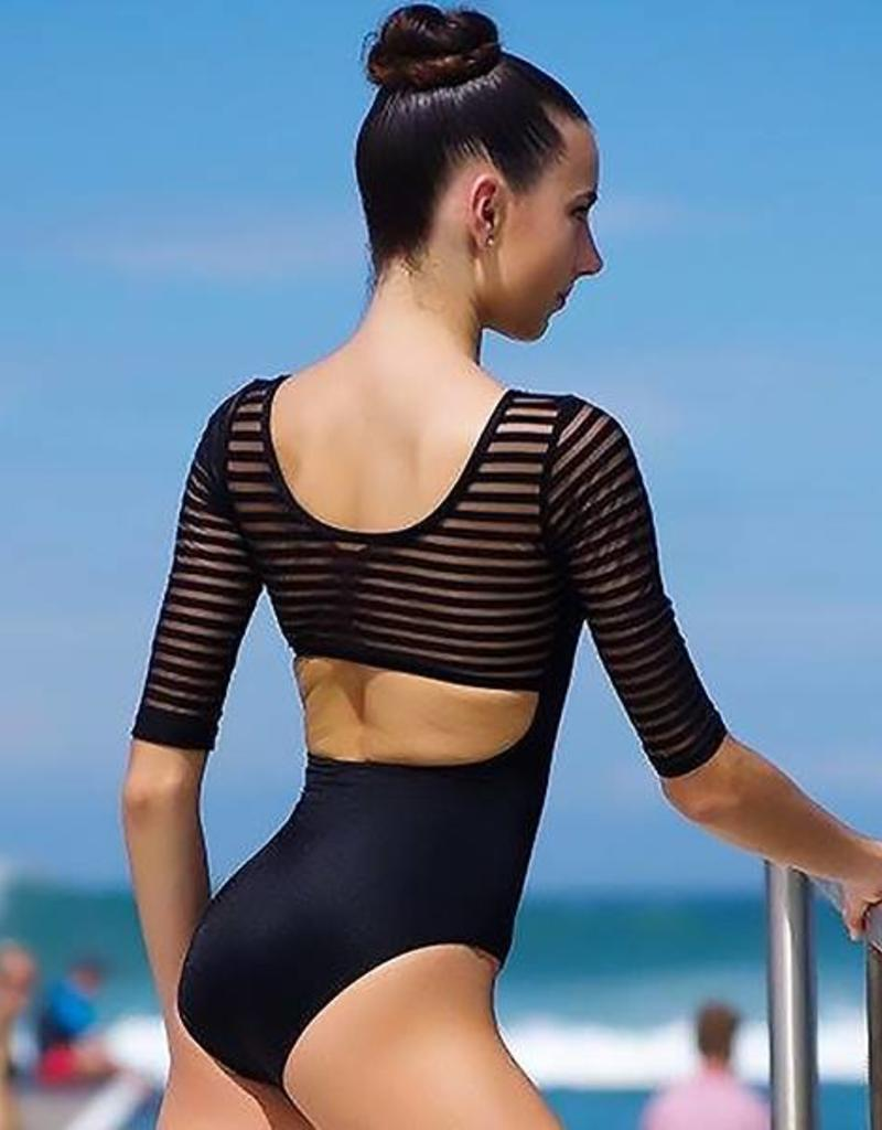 Eurotard Mesh 3/4 Sleeve Leotard 61751