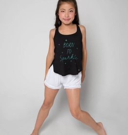 Sugar & Bruno Born to Sparkle Itty Bitty Petal Racerback Tank D8458