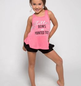 Sugar & Bruno Glitter Bows Itty Bitty Everyday Tank D8078
