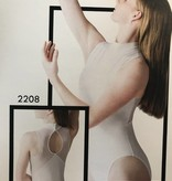 Motionwear Mesh Back Mock T Leotard 2208 Adult WHT