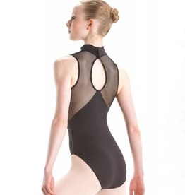 Motionwear Mesh Back Mock T Leotard 2208 Child WHT