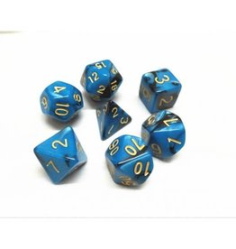 HD Dice, LLC. Blend Blue-Black Poly Dice (7)