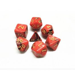 HD Dice, LLC. Blend Red-Black Poly Dice (7)