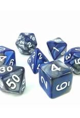 HD Dice, LLC. Blend Silver-Blue Poly Dice (7)