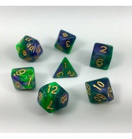 HD Dice, LLC. Blend Green-Purple Poly Dice (7)
