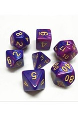 HD Dice, LLC. Blend Purple-Blue Poly Dice (7)