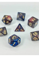 HD Dice, LLC. Blend Red-Blue Poly Dice (7)
