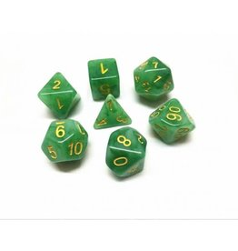 HD Dice, LLC. Jade Green/Yellow Poly Dice (7)