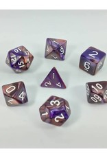 HD Dice, LLC. Blend Copper-Purple Poly Dice (7)