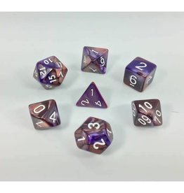 HD Dice, LLC. Blend Copper-Purple Poly Dice (7)
