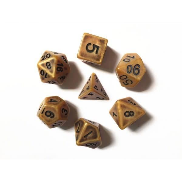 HD Dice, LLC. Ancient Gold Poly Dice (7)