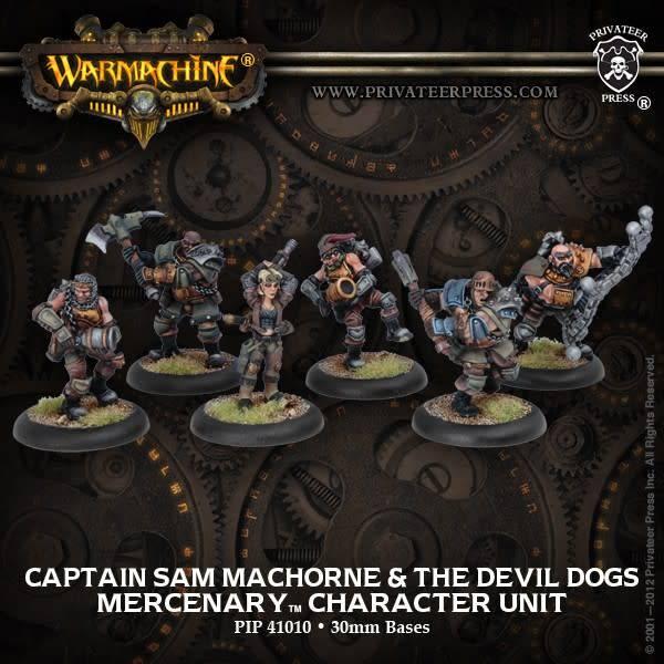 Captain Sam MacHorne & The Devil Dogs - Mercenary Character Unit (6)