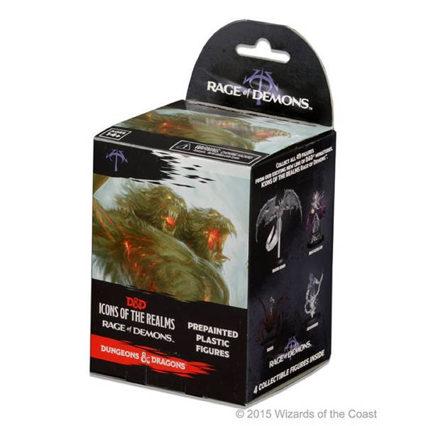 Wizards of the Coast Dungeons and Dragons Fantasy Miniatures: Icons of the Realms Rage of Demons Booster Box