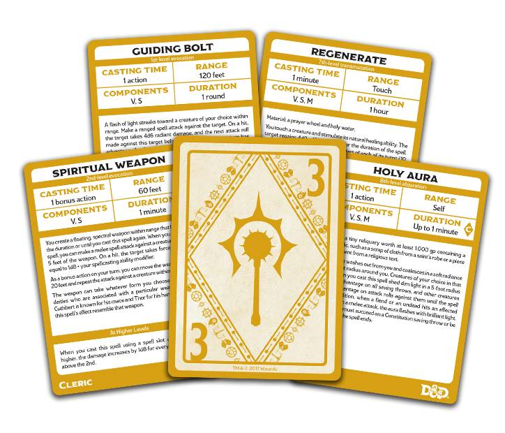 D&D 5e Spellbook Cards Cleric