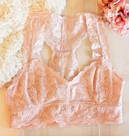Jasmine Lace Plus Bralette - Blush