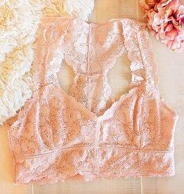 Jasmine Lace Plus Bralette - Blush