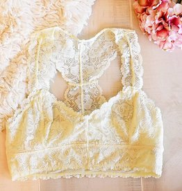 Jasmine Lace Plus Bralette - Ivory