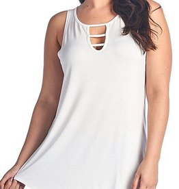 Good Timing Sleeveless Top- White