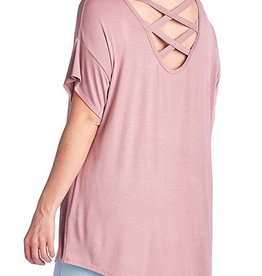 Look Ahead Top- Mauve