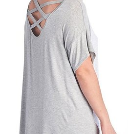 Look Ahead Top- Heather Grey