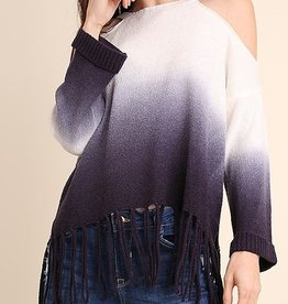 You're The One Cold Shoulder Sweater - Navy