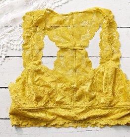 Jasmine Lace Plus Bralette - Mustard