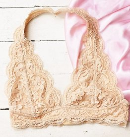 95293f0412 Rene Rofe Lucy Bralette - Apricot - Cheeky Bliss