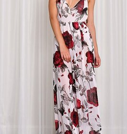Perfection In A Maxi Dress - Ivory/Red