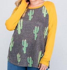 Desert Cactus Top - Mustard