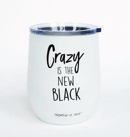 Stainless Stemless Wine Glass- Crazy White