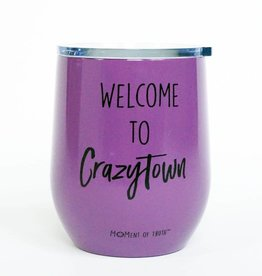 Stainless Stemless Wine Glass- Crazytown Purple