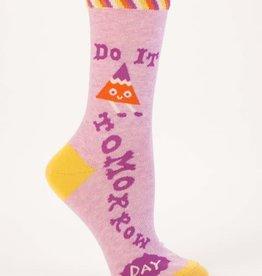 Do It Tomorrow Crew Socks