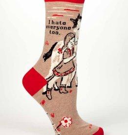 I Hate Everyone Too Crew Socks