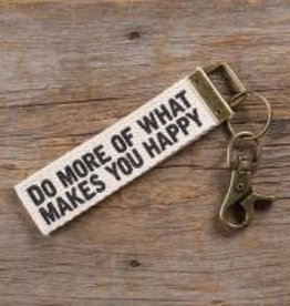 Canvas Key Fob Do More Happy