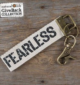 Canvas Key Fob Fearless
