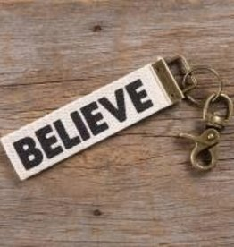 Canvas Key Fob Believe