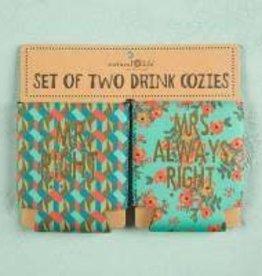 Set of 2 Cozies Mr. & Mrs.