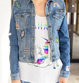 Gossip Girl Denim Jacket- Med. Wash
