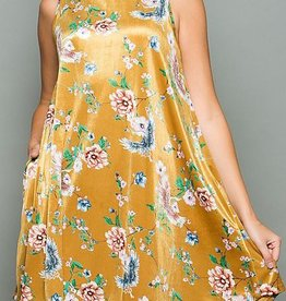 Time to Shine Dress - Mustard