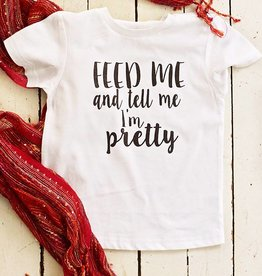 Feed Me Tee - (Toddlers) White