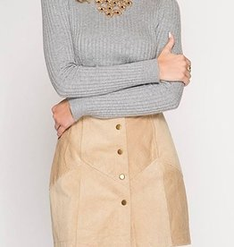 Without A Care Mini Skirt - Light Taupe