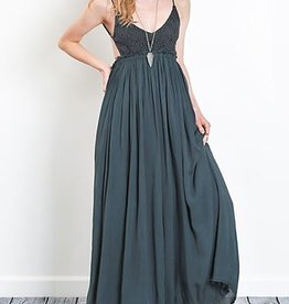 You Belong Somewhere Maxi Dress - M.Navy