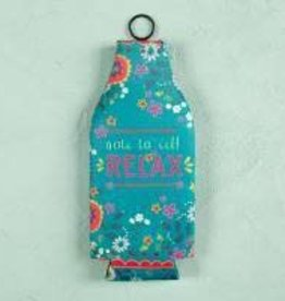 Bottle Cozie Note to Self Relax