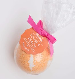 You're a Peach Bath Bomb