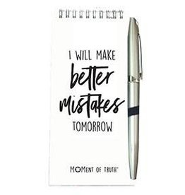 Notepad and Pen Set - Better Mistakes White
