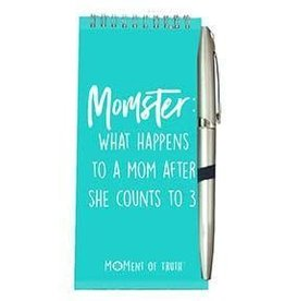 Notepad and Pen Set - Momster Teal