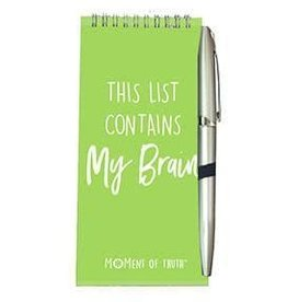 Notepad and Pen Set - My Brain Chartreuse
