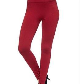 Fleece  Lined Plus Leggings Red