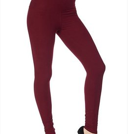 Fleece  Lined Plus Legging Burgundy