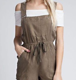 On A Mission Utility Romper- Olive